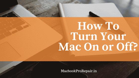 turn on off macbook